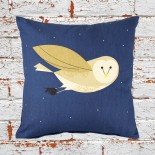 Cute Bird Cushion, In The Woods by Cubic