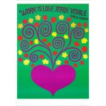 'Work is Love Made Visible' Vintage Poster by Lucia Pearce