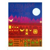 'O My Love', Vintage Poster by Lucia Pearce