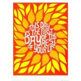 'This Day is the First Day', Vintage Poster by Lucia Pearce