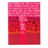 'The Flowers, The Gorgeous Mystic Flowers' Vintage Poster by Lucia Pearce